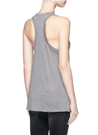 Back View - Click To Enlarge - T By Alexander Wang - Classic scoop neck pocket tank top