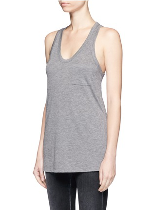 Front View - Click To Enlarge - T By Alexander Wang - Classic scoop neck pocket tank top