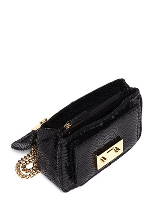 Detail View - Click To Enlarge - Michael Kors - Sloan small python embossed leather bag