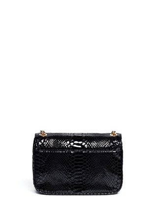 Back View - Click To Enlarge - Michael Kors - Sloan small python embossed leather bag