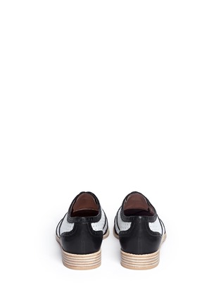 Back View - Click To Enlarge - Stuart Weitzman - Dandyperf perforated brogue shoes
