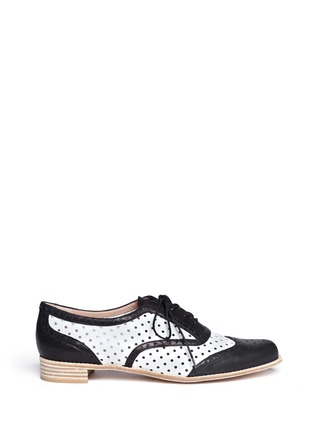 Main View - Click To Enlarge - Stuart Weitzman - Dandyperf perforated brogue shoes