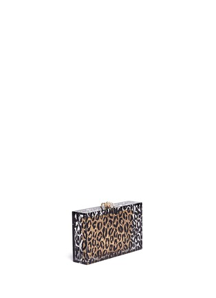 Detail View - Click To Enlarge - Charlotte Olympia - Leopard Pandora box clutch