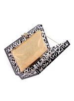 Leopard Pandora box clutch