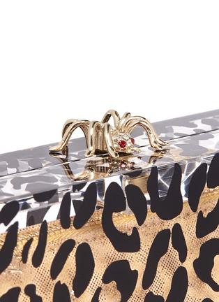- Charlotte Olympia - Leopard Pandora box clutch