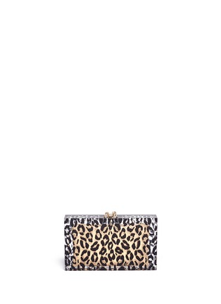 Back View - Click To Enlarge - Charlotte Olympia - Leopard Pandora box clutch