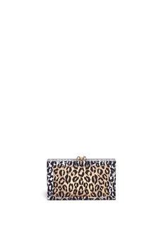 CHARLOTTE OLYMPIALeopard Pandora box clutch