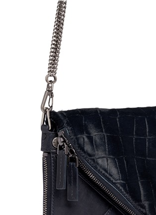 Detail View - Click To Enlarge - BOYY - 'Slash' mini calf hair leather envelope clutch