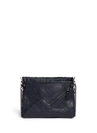Back View - Click To Enlarge - BOYY - 'Slash' mini calf hair leather envelope clutch