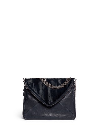 Main View - Click To Enlarge - BOYY - 'Slash' mini calf hair leather envelope clutch