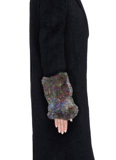 HOCKLEY'Asella' rabbit fur short fingerless mittens