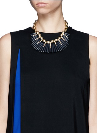 Figure View - Click To Enlarge - Kenneth Jay Lane - Spike chain necklace