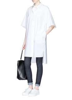 Acne Studios 'Debrah' high low hem shirt dress