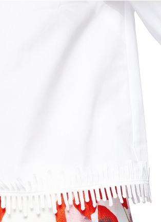 Detail View - Click To Enlarge - Nicholas - Lace hem cropped cold shoulder top
