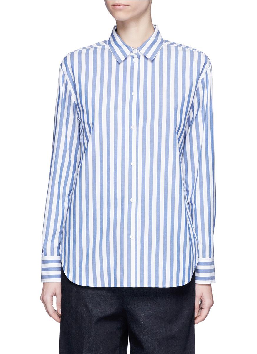 Star slogan stripe print poplin shirt by KUHO