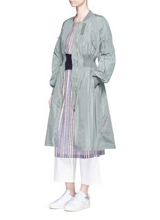 KUHOKnit print off-shoulder crepe dress