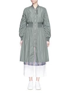 KUHOElastic waist bomber coat