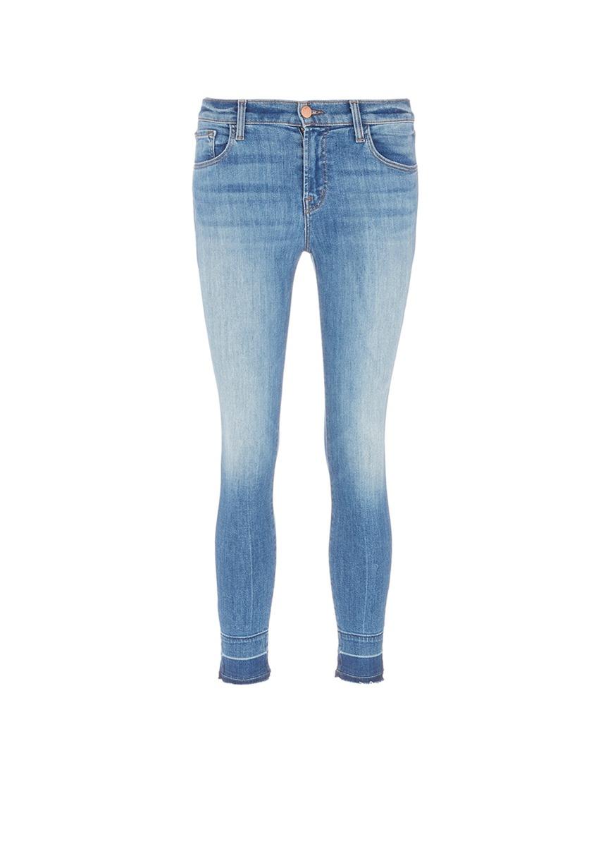 Capri letout cuff cropped skinny jeans by J Brand