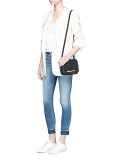J Brand'Capri' letout cuff cropped skinny jeans