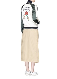 Opening Ceremony 'Gestures' floral patch reversible silk bomber jacket