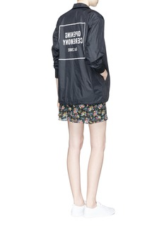 Opening Ceremony Logo print nylon coach jacket
