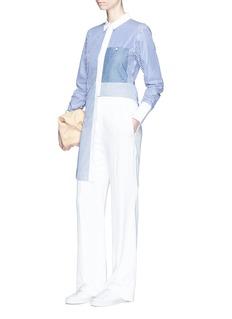 ELIZABETH AND JAMESJay粗细条纹纯棉衬衫裙