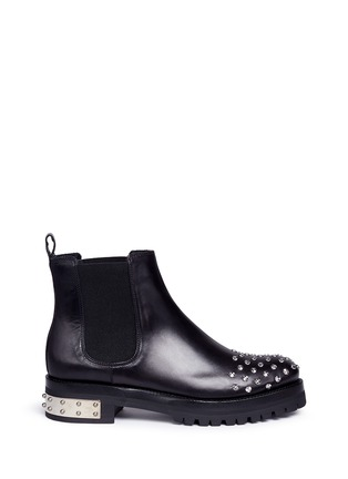 Main View - Click To Enlarge - Alexander McQueen - 'Mod' stud leather Chelsea boots