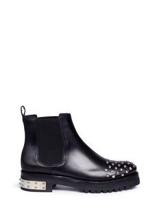 Alexander McQueen'Mod' stud leather Chelsea boots