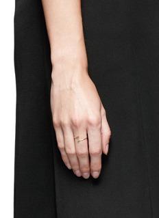 Xiao Wang'Gravity' diamond 14k yellow gold spiral ring