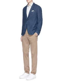 Altea Slim fit cotton-ramie soft blazer