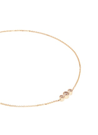 Detail View - Click To Enlarge - Xiao Wang - 'Gravity' diamond 14k yellow gold bracelet