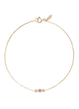Main View - Click To Enlarge - Xiao Wang - 'Gravity' diamond 14k yellow gold bracelet