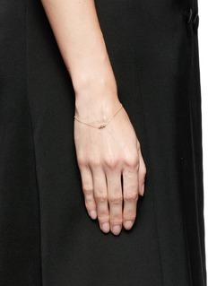 Xiao Wang'Gravity' diamond 14k yellow gold bracelet