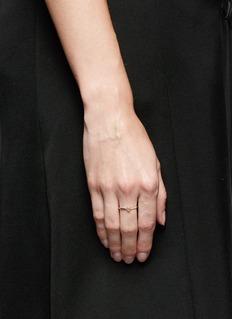 Xiao Wang'Gravity' diamond 14k yellow gold ring
