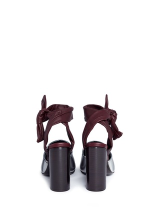 Back View - Click To Enlarge - 3.1 Phillip Lim - 'Kyoto' knotted ankle strap metallic leather sandals