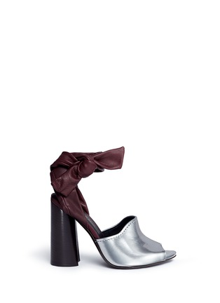 Main View - Click To Enlarge - 3.1 Phillip Lim - 'Kyoto' knotted ankle strap metallic leather sandals