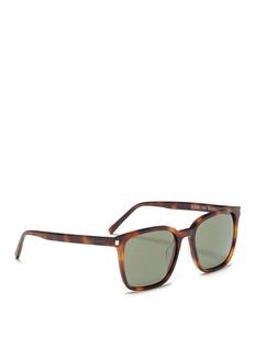 Saint LaurentSL93' tortoiseshell acetate square sunglasses