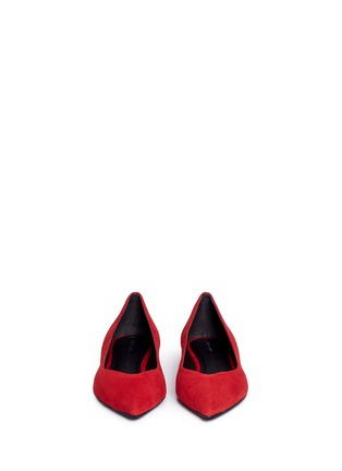 Front View - Click To Enlarge - Stella Luna - Suede skimmer flats