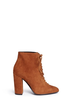 Main View - Click To Enlarge - Stella Luna - Lace-up suede ankle boots
