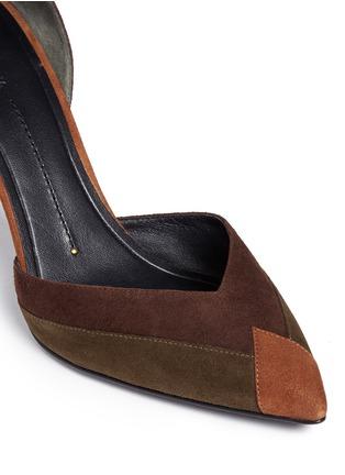 Detail View - Click To Enlarge - Stella Luna - Patchwork suede d'Orsay pumps