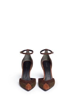 Figure View - Click To Enlarge - Stella Luna - Patchwork suede d'Orsay pumps