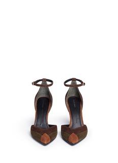 Stella LunaPatchwork suede d'Orsay pumps