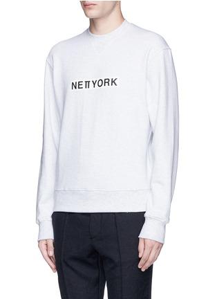 Front View - Click To Enlarge - newkidz - 'Love City New York' print unisex cotton sweatshirt