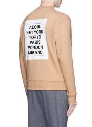 Back View - Click To Enlarge - newkidz - 'Love City Paris' print unisex cotton sweatshirt