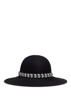 Lanvin Embellished rabbit furfelt hat