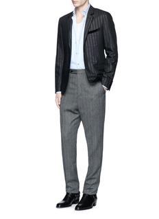 LanvinGlitter stripe wool tuxedo blazer