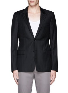 Lanvin Slim fit stripe wool jacquard blazer