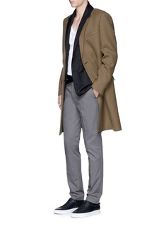 LanvinSlim fit stripe wool jacquard blazer