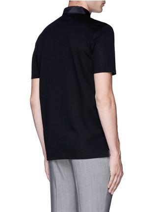 Lanvin-Slim fit grosgrain collar polo shirt