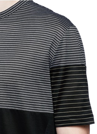 Detail View - Click To Enlarge - Lanvin - Colourblock stripe T-shirt